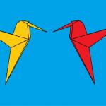 Burung-burung Origami